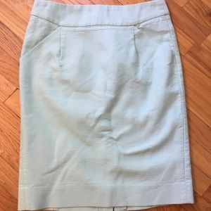 Mint green J Crew pencil skirt size 2